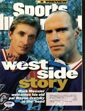 Rangers Wayne Gretzky Signed 1996 Sports Illustrated Magazine Psa/Dna #X01636