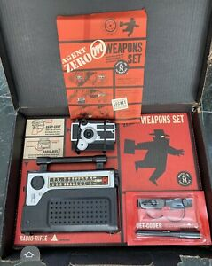1964 Mattel Agent Zero M Spy Weapons Play Set! Snap Shot Camera! Toy Radio Rifle