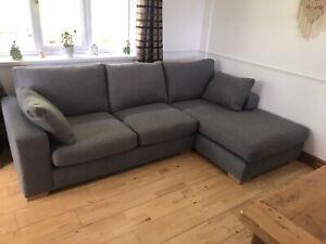 Next Sonoma Grey Chaise Corner Sofa
