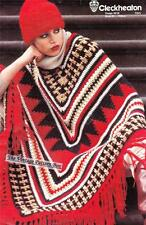 PONCHO & HAT 12ply - COPY Ladies crochet pattern