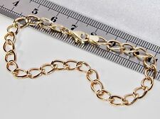 BELLA 9ct Oro Giallo Donna Fantasia Bracciale bordo 7.5 pollici