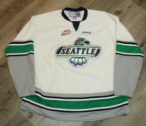 Vintage Reebok Seattle Thunderbirds Hockey Jersey Size XXXL WHL Minor League