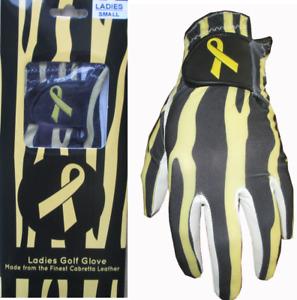 Ladies Tiger Print Cabretta Leather Golf Glove 3 Sizes Small Medium Large