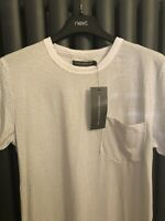French Connection Size S T Shirt Black And White Design Classic RRP £30 New