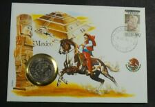 1984 FIRST DAY COVER COINS OF THE WORLD  COLLECTION MEXICO [NO4]