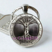 Love Tree Of Life Cabochon Glass Tibet Silver Pendant Keychain