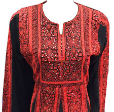 Embroidered Thobe Thob Abaya Traditional Palestinian kaftan Dress Motaraz