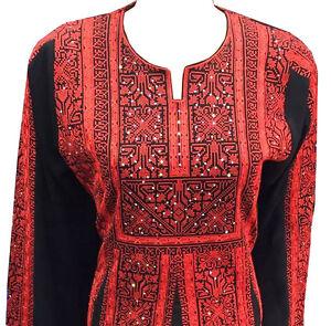 Embroidered Thobe Thob Abaya Traditional Palestinian kaftan Dress Motaraz
