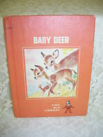 Baby Deer by Shirley Mau 1968 Tiny Elf Book Pictures by Marge Opitz