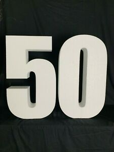50th Birthday Freestanding letters for Decoration 60cm tall