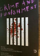 Crime & Punishment Vintage Poster Masterpiece Theatre Dostoyevsky Chermayeff PBS