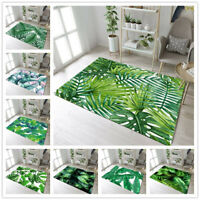 Watercolor Tropical Leaves Area Rugs for Bedroom Floor Mat Living Room Rug Decor