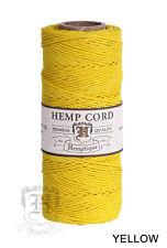 1MM Solid Polished Hemp Twine Hemptique Cord Macrame String 20lbs - 205ft Spool