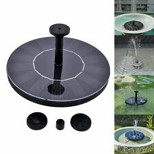 Floating Solar Powered Garden Water Pump Fountain Pond For Bird Bath Tank Kit US
