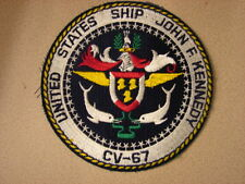 Original 1970s Aircraft Carrier USS JFK CV-67 Pocket Patch