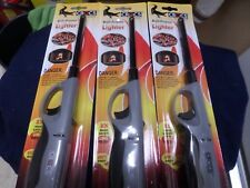 "Lot of 4 Crocs Premium Lighters/Torches 11"" - Adjustable Flame Level, Soft Grip"