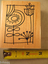 Rubber Stamp - Stampendous! - BlockArt Pop Posies V201 - New Never Used