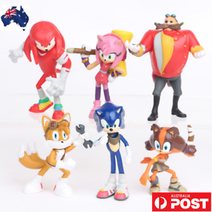 Kids Gift 6PCS Game Sonic The Hedgehog Tails Figure Character Toys Cake Topper