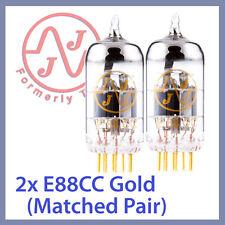 2x JJ Tesla 6922 / E88CC Gold Pin Vacuum Tubes, Matched Pair TESTED