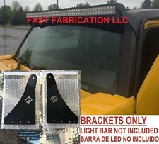 "Hummer H3 52 Inch 52"" LED Light Bar Mount Brackets - Straight/Curved - SCREWS"
