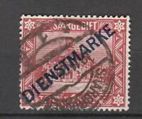 Saargebiet: Dienst Nr. 11 mit Plattenfehler XX gestempelt; Mi. 250,- €
