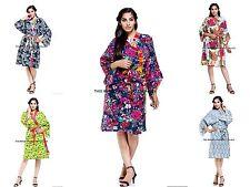 10 PC Wholesale Lot Women Sleepwear Robe Lounge wear Indian Bikini Cover Up Gown