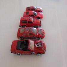 5 Cars Miniatures Red Mercedes 500 Sl Fiat Coupe Majorette