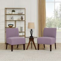 Modern Accent Chair Armless Upholstered Single Sofa Padded Seat Fabric Vintage