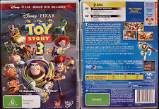 TOY STORY 3 BRAND NEW 2 DISC SET DVD R4 PAL oz seller Disney Pixar Kids