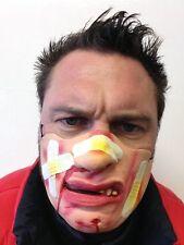 Funny Half Face Bandage Mask Bleeding Bruised Face Fancy Party Masks