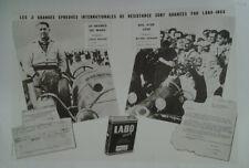 AFFICHE ANCIENNE HUILE LABO LOUIS ROSIER LE MANS MICHEL AUNAUD BOL D'OR 1950
