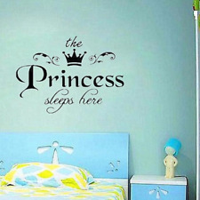 Removable Princess Sleeps Here Wall Stickers Art Vinyl Decals Girls Room Decor