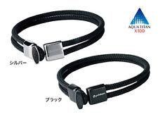 Phiten Rakuwa Titanium Bracelet X100 Carbon Fiber Sports Care