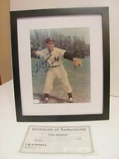 New York Yankee Phil Rizzuto  8 x 10 Autograph Photo COA H.O.F. 94 with frame