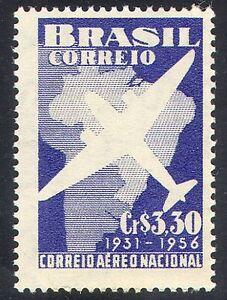 Brazil 1956 Plane/Aviation/Air Mail/Transport 1v n27989