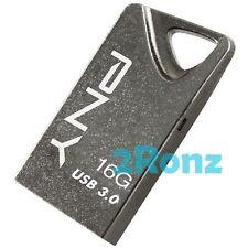 PNY T3 Attache 16GB 16G USB 3.0 Flash Drive Stick Thumb Disk Metal Titanium Gray
