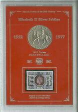 Queen Elizabeth II Silver Jubilee Vintage Retro Crown Coin Stamp Gift Set 1977