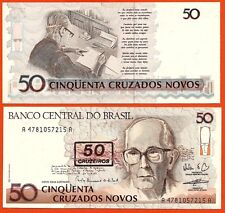 BRESIL billet neuf 50 CRUZADOS surcharge 50 CRUZEIROS  Pick 223 de 1990