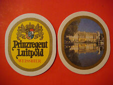 BEER COASTER ~*~ Brauerei Kaltenberg Weissbier; GERMANY ~ Schloss Herrenchiemsee