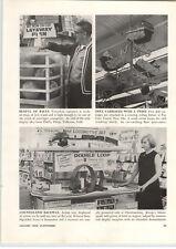1968 PAPER AD Marx Toy Train Sets Sotre End Cap Display Sky Driver Road Race HO