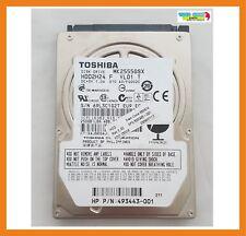 """Disco Duro Toshiba 250GB 2.5"""" 5400RPM Hdd Sata MK2555GSX / HDD2H24 / 493443-001"""
