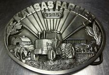 Rare Collectable 163/1000 1985 Kansas Farmer Siskiyou Belt Buckle