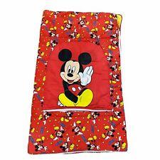 Vintage Disney Mickey Mouse Red Sleeping Bag