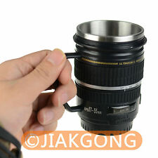 Black Caniam 18-55mm Lens Cup Stainless interior Hot Cold Coffee Mug Holder