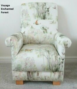 Voyage Enchanted Forest Fabric Child's Chair Kids Armchair Deer Fox Woodland New