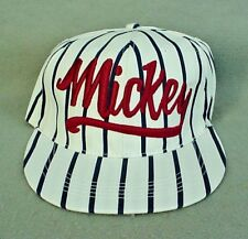 Mickey Mouse Navy Blue Striped Baseball Cap with