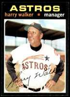 1971 Topps Baseball Card Harry Walker Houston Astros #312