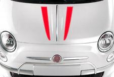 Pour Fiat 500 Abarth voiture vinyle Bonnet Rayures panneau de carrosserie Decal Graphics stickers