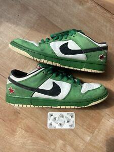 Nike Dunk Low Pro Sb Heineken Classic Green Size 9.5 Vintage