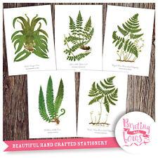 Botanical A4 Vintage Reproduction Fern Leaf Prints - Wall Art set of 5 - No2